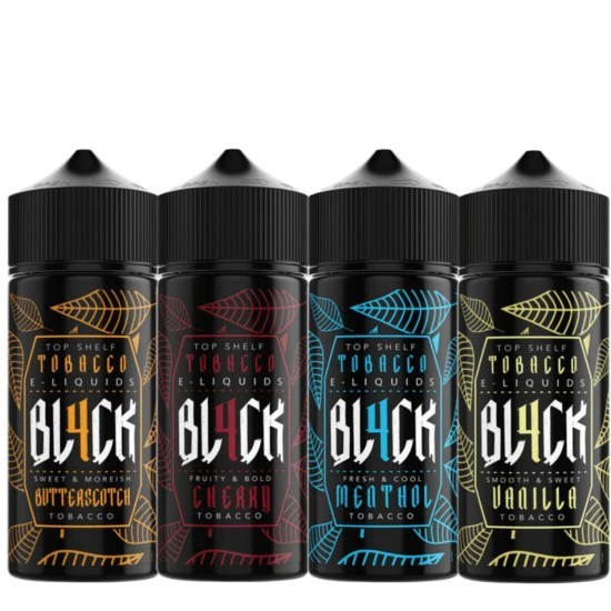 BL4CK Eliquid Shortfills 120ML