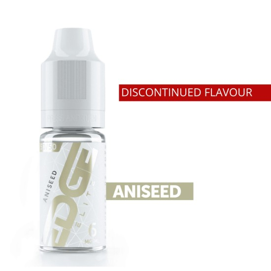 EDGE ELITE Eliquid ANISEED 10ML (Discontinued)